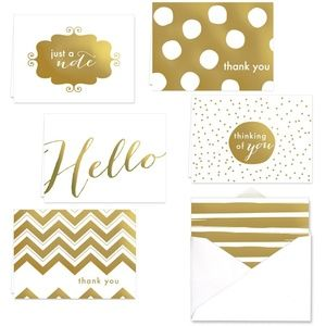 Other - All Occasion Note Cards Gold Foil Set of 24
